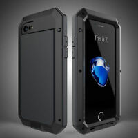 Waterproof Shockproof Aluminium Gorilla Glass Metal Cover Case For Apple iPhone