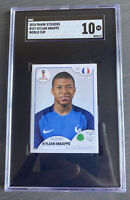2018 Panini World Cup Stickers Pink Back Kylian Mbappe ROOKIE RC #197 SGC 10