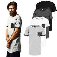 Urban Classics T-Shirt extra lang long Shirt Tee oversize Kunstleder TB827