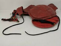 Vintage Old Red Leather Breastplate-Like Thing