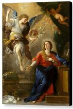 The Annunciation by Luca Giordano, 1672 Italian Old Masters 18x24 Giclee Canvas