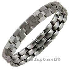 NEW MENS Copper Alloy with Pewter Finish Magnetic BRACELET Health Magnet Therapy