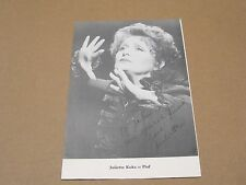 Juliet Koka as Piaf SP Autographed Photo