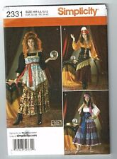 Simplicity# 2331 (Andrea Schewe)Fortune Teller-Gypsy Costume Pattern Sz 6-12 UC