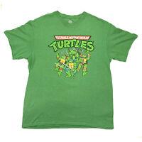 Nickelodeon 2014 Teenage Mutant Ninja Turtles Graphic Green Shirt Mens Size Lrg