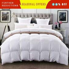 Goose Down Alternative Comforter Stripe Reversible Solid All Season Bed In a Bag