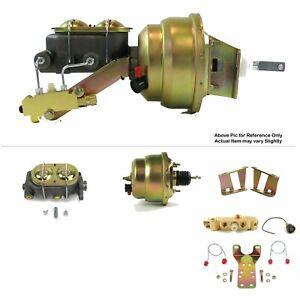 "1958-64 Chevrolet Bel Air LS FW Mount Power 7"" Dual Brake Booster Kit Disc/Drum"