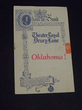 Oaklahoma  Programme & Ticket  Stub-Theatre  Royal Drury Lane 1August 1949s