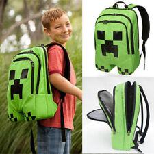 Hot  Minecraft BackPack Bag Backpack Boy Creeper Green School Camping Travel