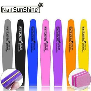 High Quality Double Side Washable Professional Nail File 100/180 Manicure Tool