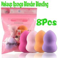 8Pcs* Makeup Foundation Sponge Cosmetic PUFF* Powder Smooth Beauty Tools
