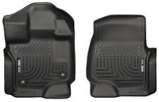 HUSKY WeatherBeater Front Floor Mats for 15-19 FORD F150 F-150 EC CC Black 18361
