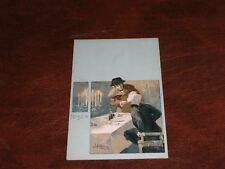 ORIGINAL ART NOUVEAU SIGNED POSTCARD - OPERA - TOSCA - MEN AT TABLE.