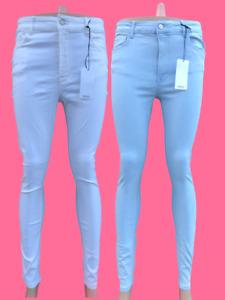 Ladies Mango Jeans High Waist Skinny Jeggings Womens Girls Denim Trouser
