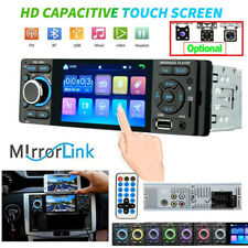 "Bluetooth 4.0 Car Stereo Radio 1 DIN 4"" Touchscreen HD MP5 FM Player GPS Android"