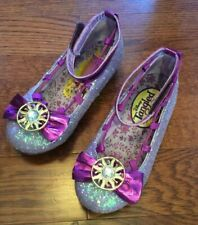 Disney Tangled The Series Purple Glitter Girl Shoes Size 11 12