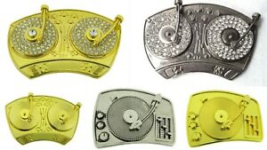Retro Turntable Belt Buckles Blaster Radio Dj Ghetto Music Old school tattoo new