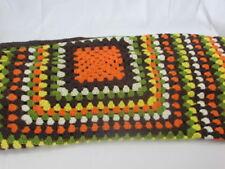 Vintage homemade crochet throw blanket