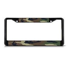 CAMO Black Heavy Duty Metal License Plate Frame Tag