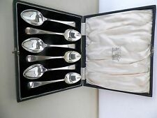 SET OF 6 KEMP BROTHERS STERLING SILVER 5 1/4'' SPOONS & CASE NO MONO