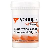 YOUNG'S Super Wine Yeast Compound - 60g Tub - Nutrient Home Brew Wine Making