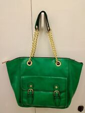 Steve Madden Green Faux Leather Shoulder Bag Handbag Shopper Tote Bag - Large
