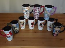 High Quality Ceramic 14 Oz. Travel Coffee Tea Mug Tumbler Dogs Love Betty Boop
