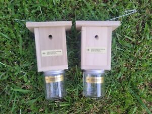 Carpenter Bee Traps Pressure Treated Hand Made Set of 2 Free Shipping