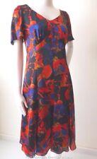 TRENT NATHAN Size 10 -12 US 6 - 8 Short Sleeve Multi Coloured Shift Dress