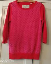 Woman's/Girl's JACK WILLS PINK COTTON SWEATER - Size 8 - three quarter sleeves