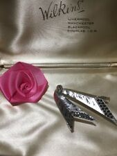 Marcasite Signed ' Sphinx' 16277 Brooch A Sublime Silver Tone Metal &