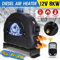 8KW 12V All In One Diesel Air Heater Car Parking Heater 4 Holes Low Fuel