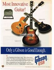 1994 Gibson Nighthawk Electric Guitars Magazine Ad