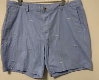 Vineyard Vines Breaker Shorts Men's  SZ 40 Blue With Fish Embroidery