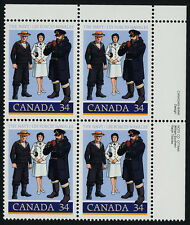 Canada 1075 TR Plate Block MNH Canadian Navy, Uniforms