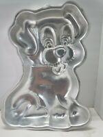 Vintage 1991 Wilton Puppy Cake Aluminum Pan 2105-9434 Happy Dog Joyful Pup