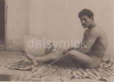 Naked Man with Samurai Sword Wilhelm Von Gloeden 1895 6x4 Inch Reprint Photo