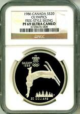 1986 Canada S$20 Olympics Free-Style Skiing NGC PF69 Ultra Cameo