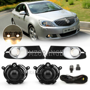 For Buick Verano Excelle GT 2012-2015 Fog Lights +Cover Bezels+Wiring Switch Set