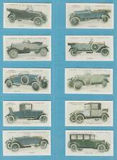Lambert & Butler cigarette cards - MOTOR CARS 2nd series- Full set