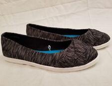 Blowfish Malibu Slip On Black White Flats Shoes Womens Size 8 W