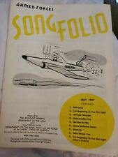 Armed Forces Song Folio May 1957 Vintage Sheet Music Usa Army Patriotic Euc