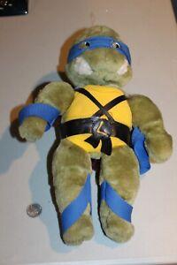 """Vintage Teenage Mutant Ninja Turtles TMNT 14"""" Leonardo Plush Playmates 1988 RARE"""