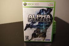 Alpha Protocol (Microsoft Xbox 360, 2010) New / Factory Sealed