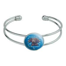 Boykin Hair Don't Care Dog Novelty Silver Plated Metal Cuff Bangle Bracelet