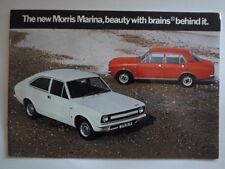 MORRIS MARINA RANGE orig 1971 UK Mkt Sales Brochure - BL 2824/A