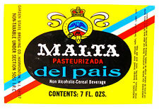 Garden State Brewing MALTA DEL PAIS small - mini beer label NJ 7oz Non-alcohol