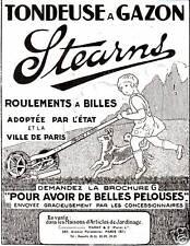 """Publicité Ancienne """" Tondeuse à Gazon STEARNS  1925 """""""