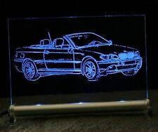 Auto-gravur  BMW 3 cabrio E46 auf LED Schild Gravur
