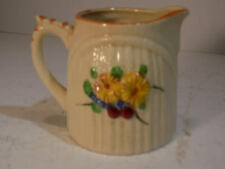 1950's Cream Pitcher Floral Pattern Made in Japan Nice Grazing No Cracks